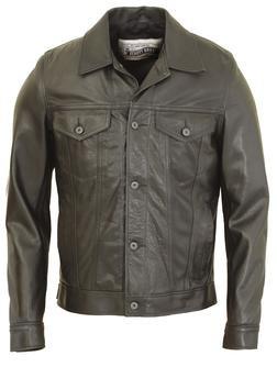 120 - Soft Pebbled Cowhide Leather Jean Jacket