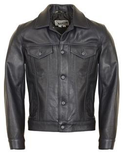 120 - Soft Pebbled Cowhide Leather Jean Jacket