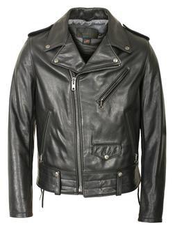 525 - Natural Pebble Cowhide Motorcycle Leather Jacket (Black) (Black)