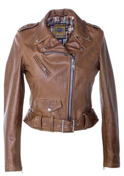 525W - Women's Leather Jacket (Rust Brown)