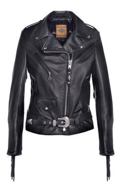 526W - Women's Fringed Motor Cycle Jacket