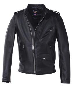 603USA - Cafecto Steerhide Hybrid Cafe Racer Asymmetrical Leather Motorcycle Jacket