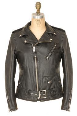 626VNW - Women's Vintaged Cowhide Fitted Black Motorcycle Jacket (Black)