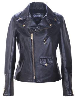 "636W - 23"" Midweight Cowhide Boyfriends Motorcycle Jacket"