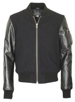 "71422 - 26"" Wool Blend MA-1 Jacket (Black)"