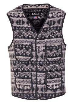 745V - MEN'S WOOL PLAID VEST (Anthracite)