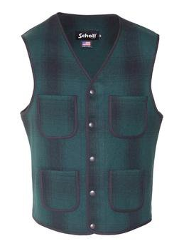 745V - MEN'S WOOL PLAID VEST (Heather)