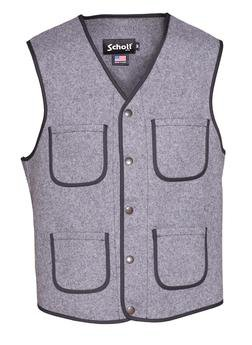 745V - MEN'S WOOL PLAID VEST (Green)