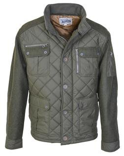 """91471 - 28"""" Diamond Quilted Coated Nylon Field Jacket (Olive)"""