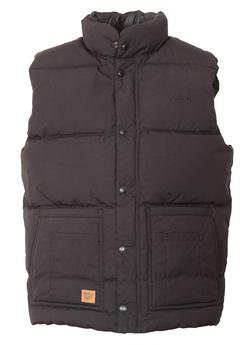 9356DV - Down Filled Vest with Patch Pockets (Black)
