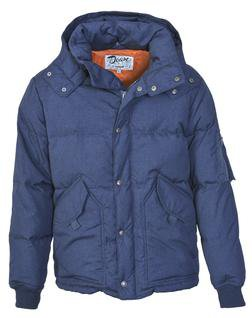 9425D2 - Down-Filled Indigo CWU with Detachable Hood (Navy)