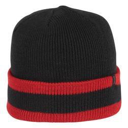 A004 - Stripe Watchcap (Black/Red)