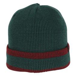 A004 - Stripe Watchcap (Hunter/Burgundy)