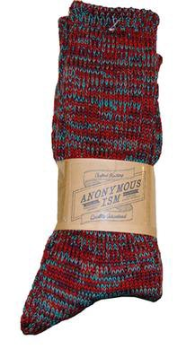 AIS1 - 5 color mix crew sock