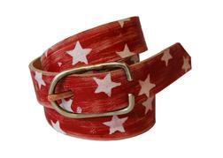 BELT1 - Hand Worked Veg Tanned Horween Leather Belt (Red)