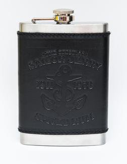 FLASJ - Sailor Jerry Leather Wrapped Steel Flask