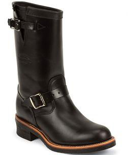 "M48BW - Chippewa 11"" Black Whirlwind Plain Toe Boot"