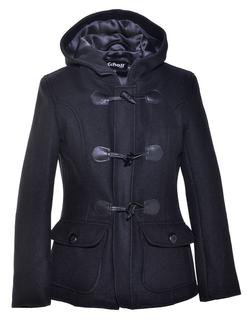 DU732W - Women's Cropped Wool Duffle Coat