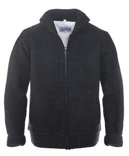 F1522 - Shawl Collar Sweater Jacket (Black)