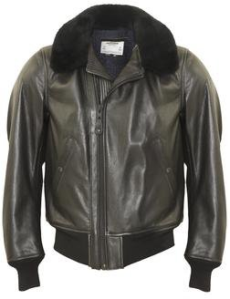 P215 - B-15 Leather Flight Jacket (Black)
