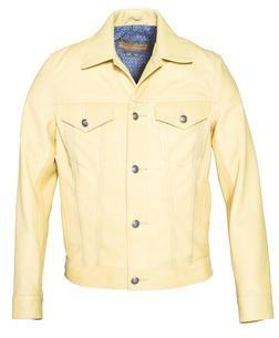P560 - Men's Genuine Cowhide Trucker / Jeans Jacket