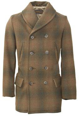 P758 - Plaid Mackinaw Coat (Brown)