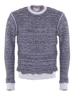 PF06 - Men's 100% Cotton Crewneck Pullover (Indigo)