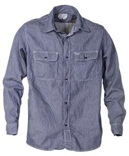 SH1501 - 100% Cotton Work Shirt (Ticking Cloth)
