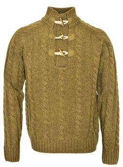 "SW1420 - 26"" Toggle Pullover Sweater (Olive)"