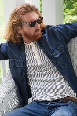 K502 - Men's Henley Cotton Shirt (Natural)