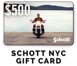 GC500 - $500 Schott NYC Gift Card