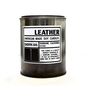 CNDL1 - Tin Candle-Candles (Leather)