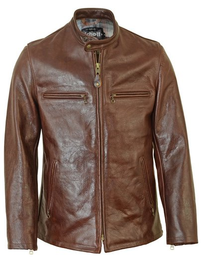 660 - 28 Inch Fitted Cafe Racer Leather Jacket