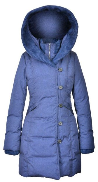 "9496W2 - 36"" Shawl Collar Nylon-Poly Asymmetrical Jacket (Navy)"