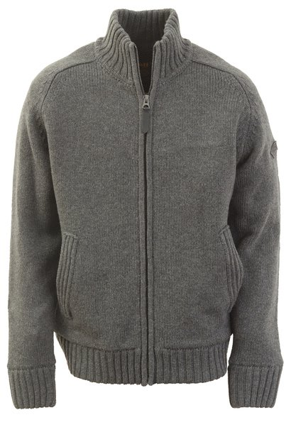"F1250 - 27"" Wool/Acrylic blend zip front sweater"